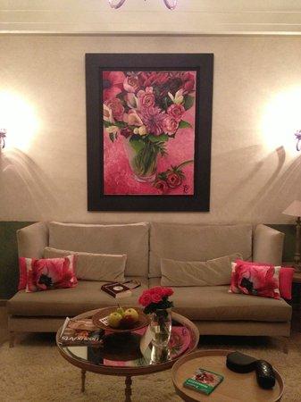 Tigmiza - Suites & Pavillons: Le salon, coin canapé