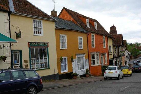 Lavenham Great House Hotel & Restaurant: The main street of Lavenham