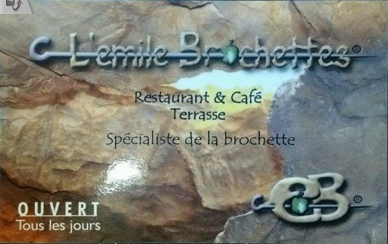 L'Emile Brochettes: Business Card