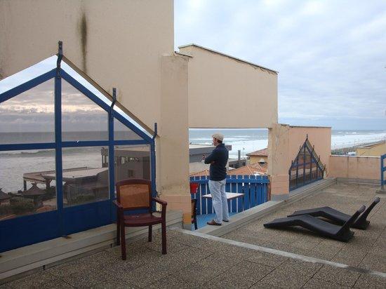 L'Oyat : terrace view