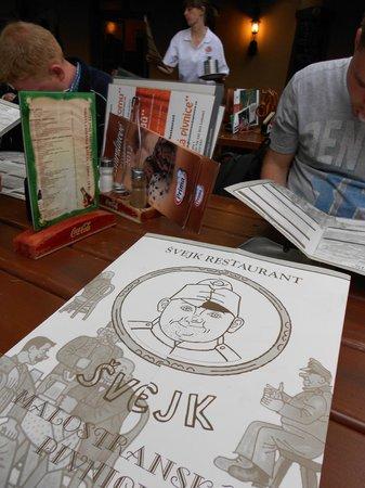 Svejk Restaurant : Menu