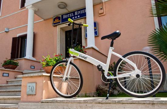 bici best western hotel riviera fiumicino roma