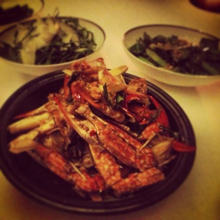 Amatara Resort & Wellness: Crabs in a curry sauce!
