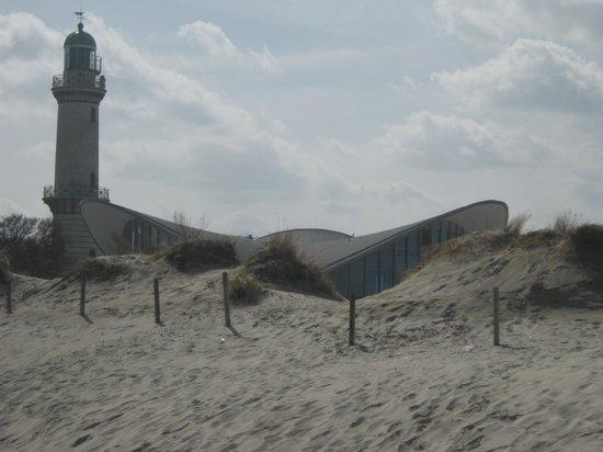 Leuchtturm Warnemünde: Blick von der Westmole.
