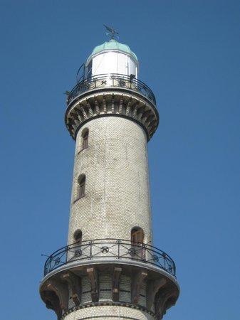 Leuchtturm Warnemünde: Viele Stufen bis da oben.