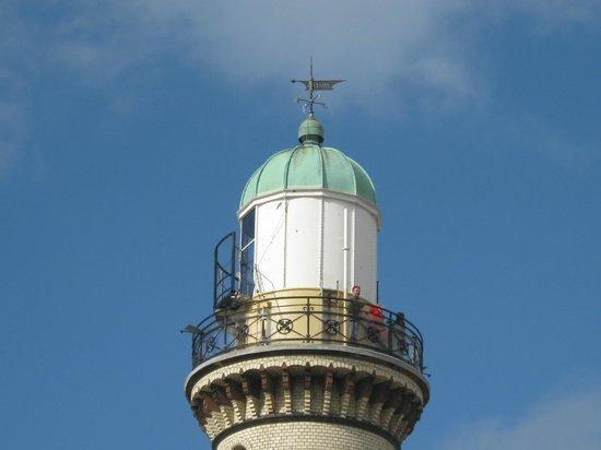 Leuchtturm Warnemünde: Obere Aussichtsplattform.