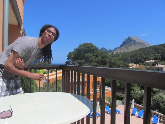 Pinos Altos: on the balcony