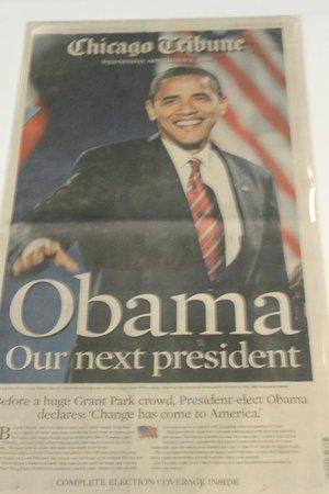 Museum Berita Newseum: Eleição Obama