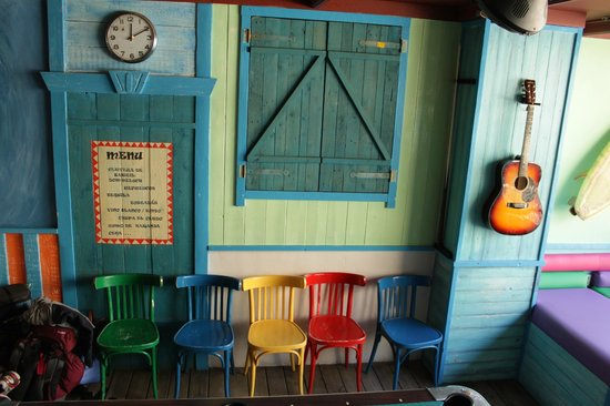 Colorful Bar Of The Flying Pig Beach Hostel