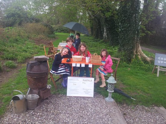 Ballyvolane House: Our daughters helping the owner's children with an Open Garden Day in the garden