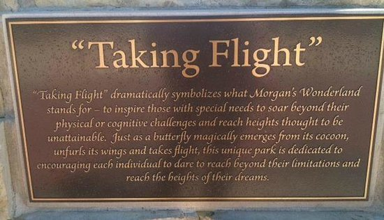 The sign that greets you at Morgan's Wonderland