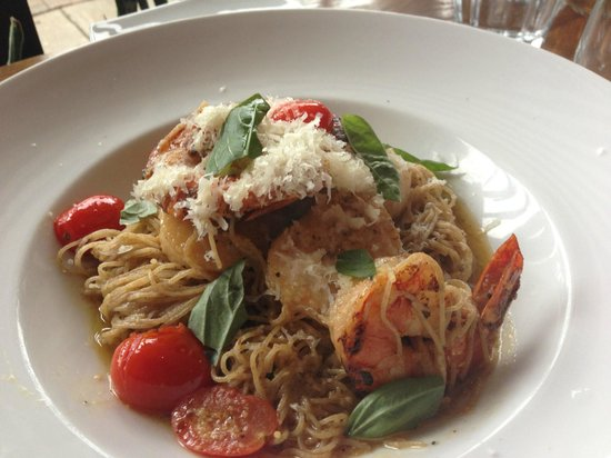 Fresh Made Angel Hair Pasta With Scallops And Shrimp Picture Of