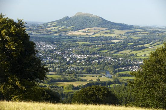 Monmouthshire, UK: Looking over Abergavenny and the Skirrid