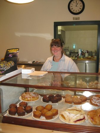 Foolish Farms: Working the pastry counter.