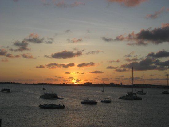 The Villas at Simpson Bay Resort & Marina: View of the sunset from our balcony