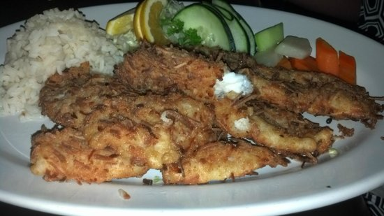 La Perlita: Coconut crusted and fried Lionfish!