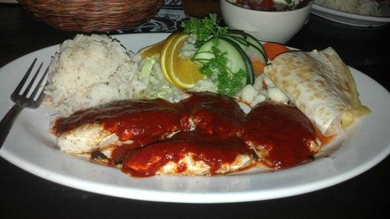 La Perlita: Savory achiote sauce over grilled Lionfish!