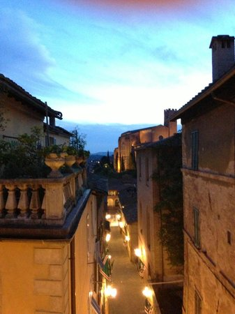 Nightime view from our room at La Casa di Antonella