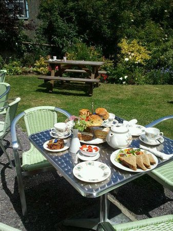 Coffee Cups : our garden with afternoon tea