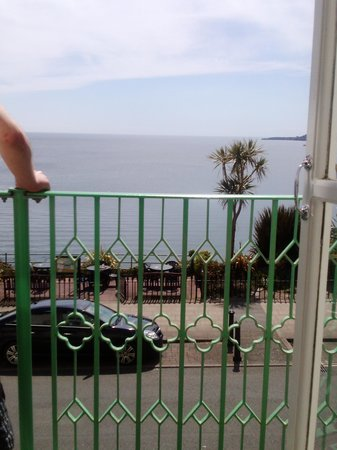The Clarence House Hotel: view from room 114 beatiful weather saturday 18th may