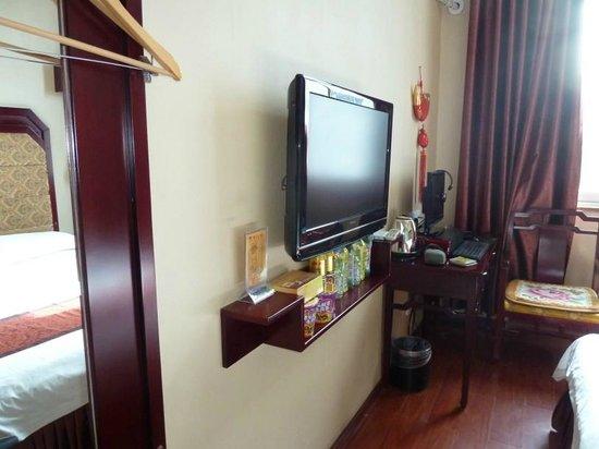 Pai Hotel Zhongwei Gulou: Computer with internet, Jinjiang Hotel Zhongwei
