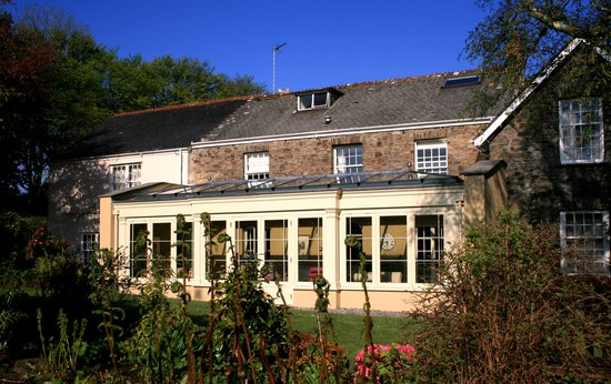 Martinhoe, UK: The Hotel with our new Orangery