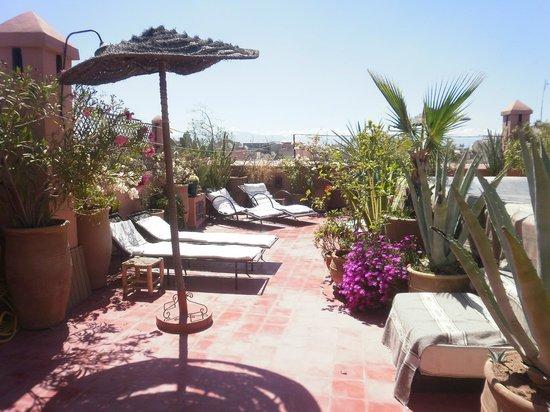 Riad Miski: terrasse