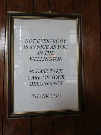 The Wellington Hotel: Sign in pub