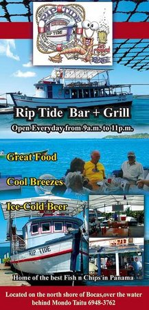 RipTide Bar Restaurant: Our ad in Tourist Directory magazine