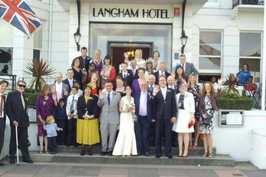Langham Hotel: the wedding