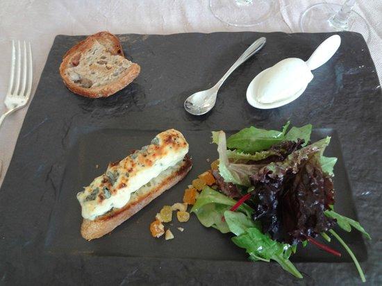Auberge du Bon Laboureur : queijos com sorvete rockeford