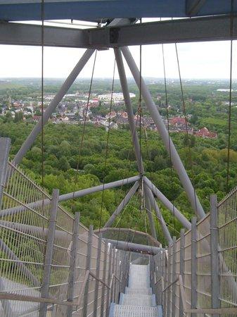 Tetraeder Bottrop: Aussicht vom Tetraeder aus (2. Ebene)