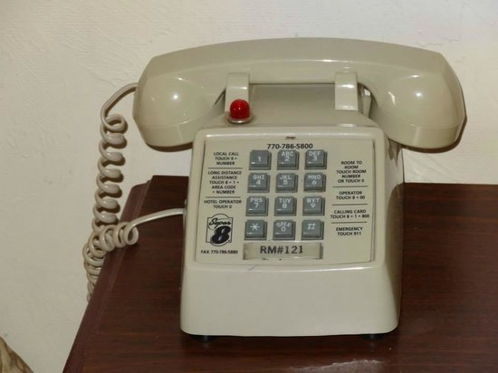 Super 8 Covington: The phone from the 80's