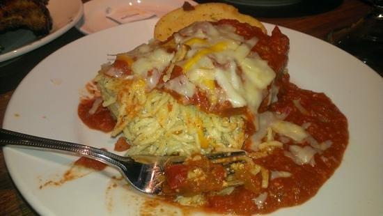 Cheddar's: Spaganga (spaghetti like lasagna)