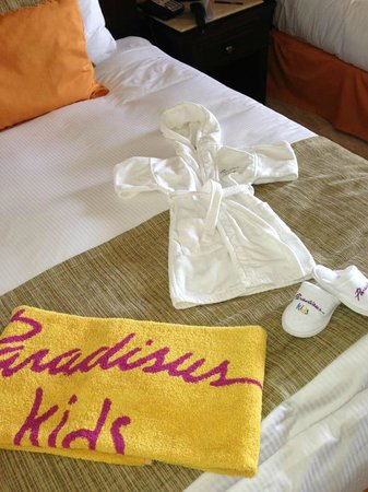 Kids Own Robe Bath Towel And Slippers Picture Of Paradisus Cancun Tripadvisor