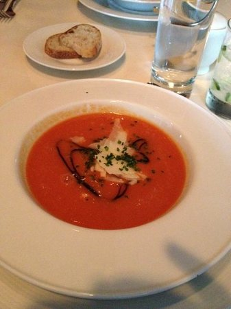L'Albatros Brasserie + Bar: My appetizer -- cold tomato soup