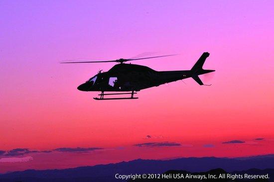 Heli USA Airways: Beautiful sunrise and sunset flights...