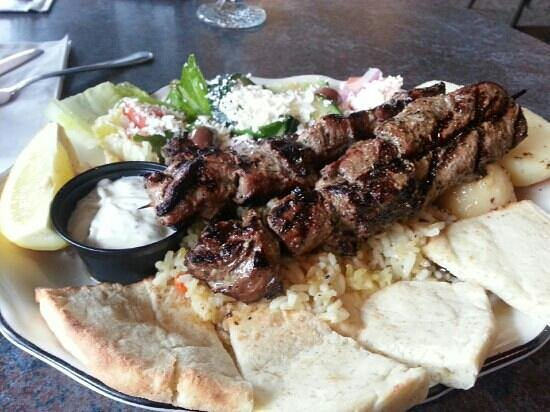 Karouzo's Steaks Seafood: beef souvlaki