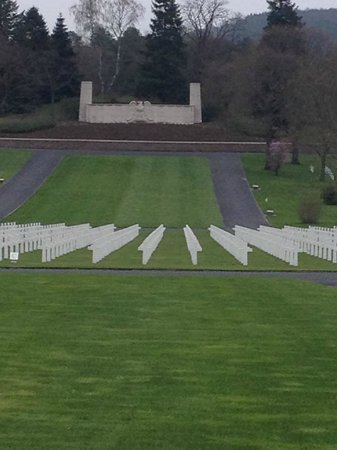 Lorraine American Cemetery and Memorial: Sobering view of the Lorraine American Cemetery