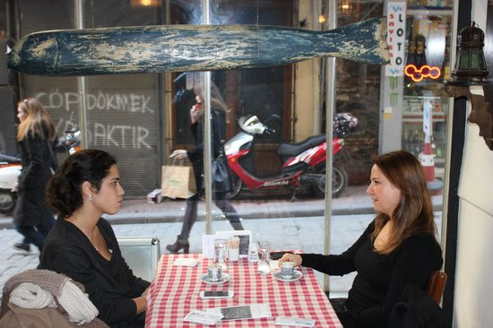 Two clients of Boncuk Restaurant