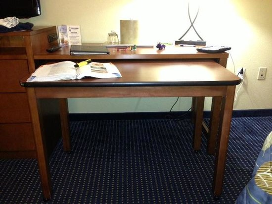 Pull Out Table From Desk Totally Portable Too Picture