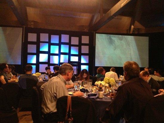 Omni Barton Creek Resort & Spa: Dinner and program in the Pavillion