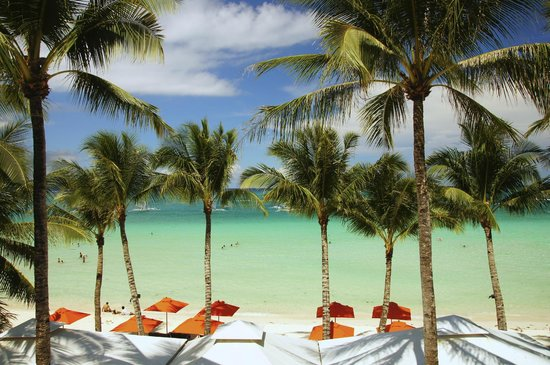 The District Boracay: View of White Beach from Star Lounge