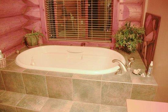 O'Reilly Organic Farm Bed & Breakfast: Shared bathroom has a soaker tub