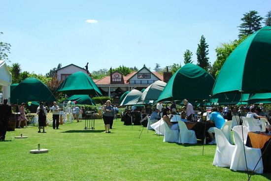 Stonehaven on Vaal: Outdoor seating on lawn