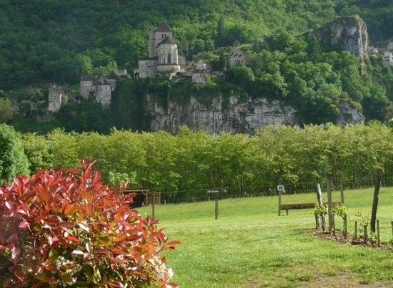 Hôtel Spa Le Saint Cirq : Vista sul villaggio