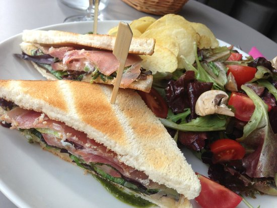 Cafe Gourmand : Club Sandwich Saumon ! UN RÉGAL !