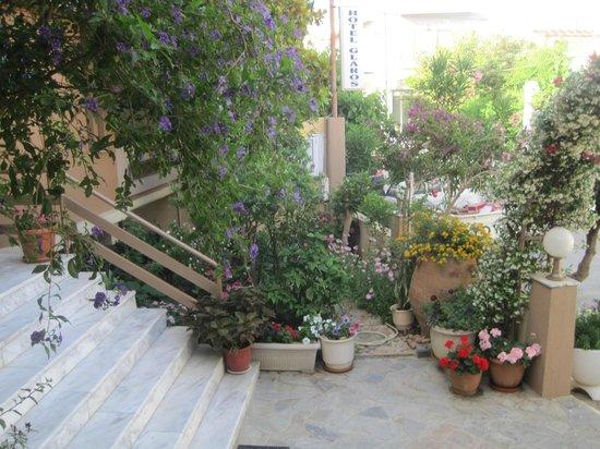 Hotel Glaros : vue de la terrasse