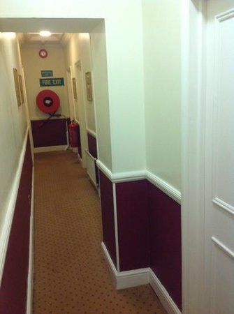 Grange Blooms Hotel: pokycorridor, stained carpets
