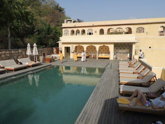 Samode Palace: la piscine à débordement située sur un toit